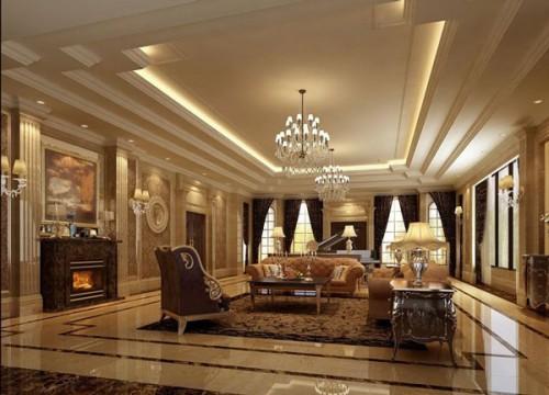 Phòng khách thiết kế theo kiểu kiến trúc tân cổ điển