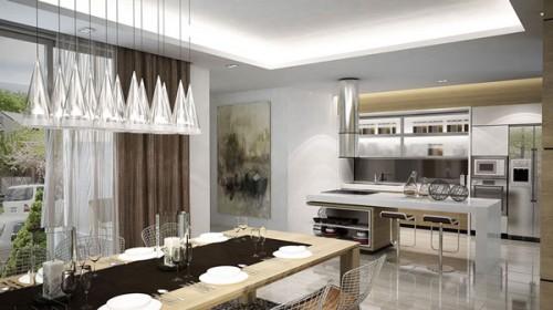 Nhà bếp theo kiểu kiến trúc tân cổ điển