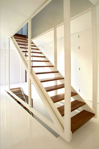 Thi t k c u thang nh ng thi t k x y d ng nh p for Enclosed staircase design