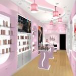 Thiết kế nội thất showroom mỹ phẩm