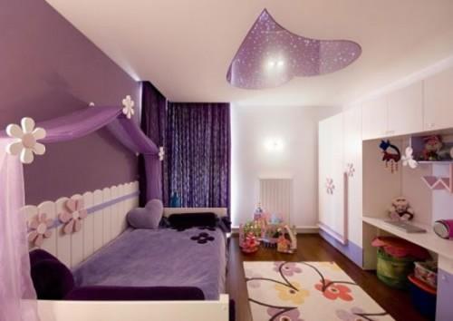 Lãng mạn với phòng ngủ màu tím-1