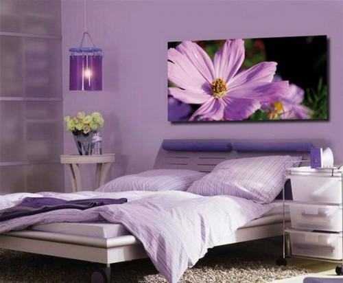 Lãng mạn với phòng ngủ màu tím-4