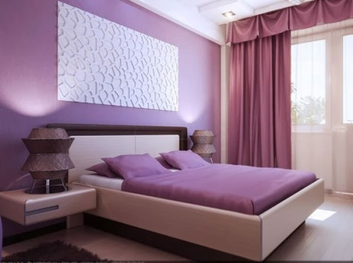 Lãng mạn với phòng ngủ màu tím-6