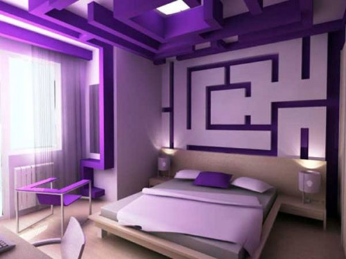 Lãng mạn với phòng ngủ màu tím-3