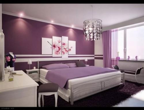 Lãng mạn với phòng ngủ màu tím-5